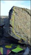 Rock Climbing Photo: Four Ways to Wave problem beta.