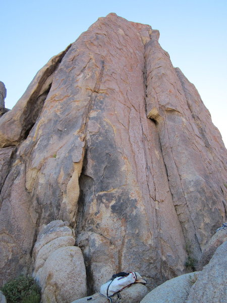 Rock Climbing Photo: This route takes the obvious left facing corner cr...