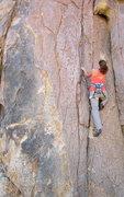 Rock Climbing Photo: Susan enjoying some stay-in-place rock