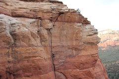 Rock Climbing Photo: Kole DeCou leads the second pitch