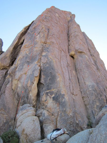 Rock Climbing Photo: Start at the bulge and head on up the line of bolt...