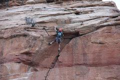 Rock Climbing Photo: The extremely rare Kole DeCou dyno!!!