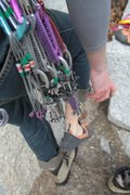 Rock Climbing Photo: exchanging kicks as the base of Green A