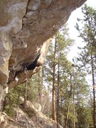 Rock Climbing Photo: Joel McKillop is on a date with Alice, 5.13a. Ya g...