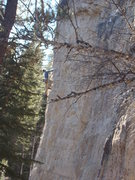 Rock Climbing Photo: Lee climbs a prow at The Blowin' Kisses Wall. The ...