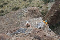 Rock Climbing Photo: Nate and Baur nearing the summit.