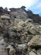 Rock Climbing Photo: Broken Castlewood cliff.