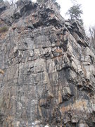 Rock Climbing Photo: The climb starts on the right side of the picture ...