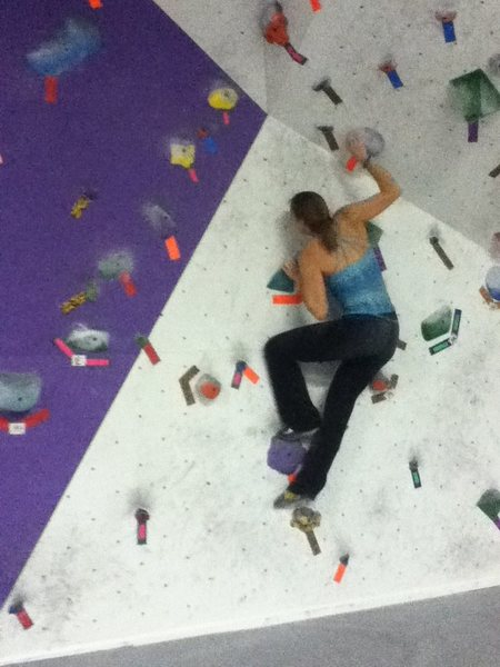 mommy climbing with me at dbc