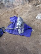 Rock Climbing Photo: maybell at base of rock