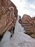 "Rock Climbing Photo: Right variation of the pitch above ""crux&quot..."