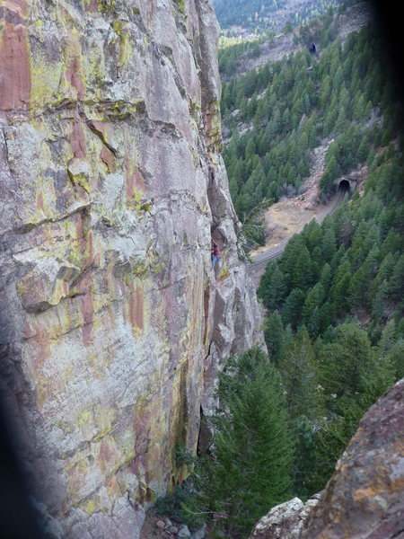 Rock Climbing Photo: Captain Beyond pitch 1 from the Perversion ledge. ...