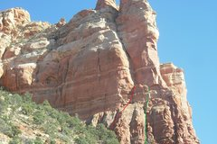 Rock Climbing Photo: Red is the free variation, Green is the original. ...