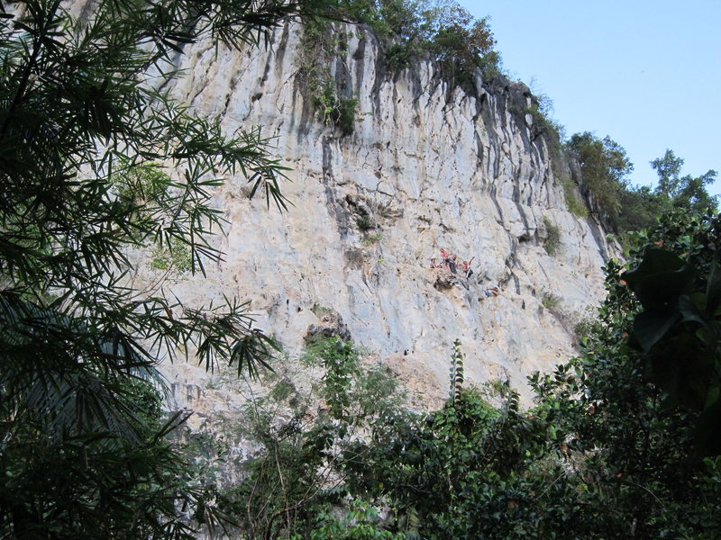 Rock Climbing Photo: There is an upper tier that only has a few routes ...