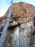 Rock Climbing Photo: The convergence of the north and west-facing walls...
