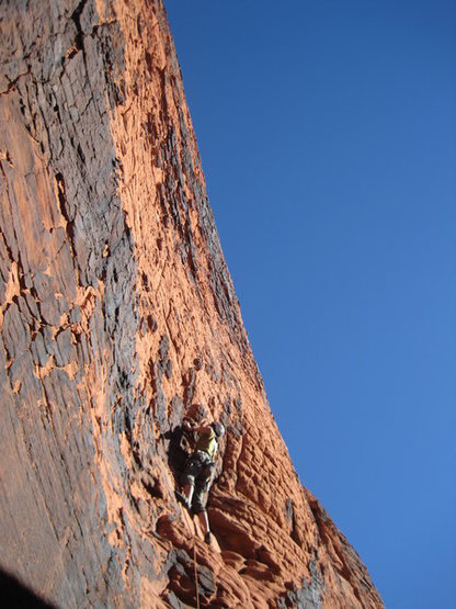 Approaching the crux.