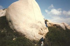 Rock Climbing Photo: Amick working on the Vision BITD