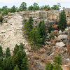 Rockfall at Castlewood Canyon. Just past the Morning Sun wall. Apparently happened sometime in Summer 2012. More info here: http://www.mountainproject.com/v/castlewood-canyon-rock-fall-cliff-fall/107915960