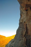 Rock Climbing Photo: Eric, clipping the chains on Raising Cain.  Photo ...