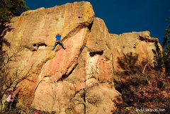 "Rock Climbing Photo: Rambo nearly flashing ""Invaders of the North&..."