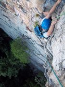 Rock Climbing Photo: Finishing up P1 of Strictly From Nowhere with item...