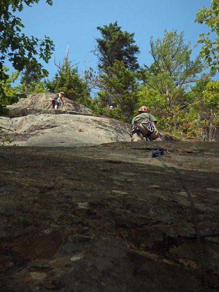 Rock Climbing Photo: Looking up Pitch1 of Bella Vista, Crane Mt, Adiron...