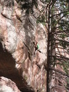 Rock Climbing Photo: Tricky stemming.