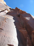 Rock Climbing Photo: Looking up at the well shaded climbing of The Wave...