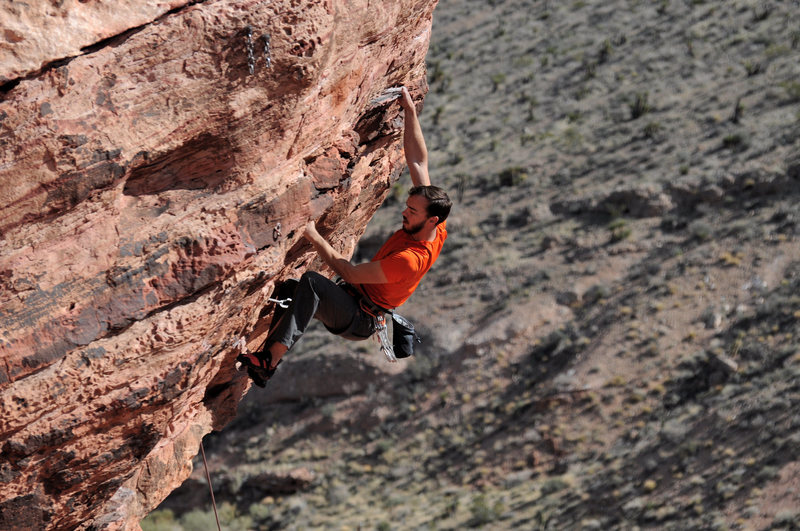 Rock Climbing Photo: Brett Hannah somewhere in the Calico Basin. Photo ...