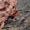 Brett Hannah somewhere in the Calico Basin.<br> Photo by Steve Cox