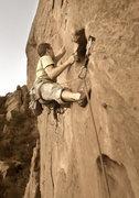 Rock Climbing Photo: The potholes.