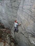 Rock Climbing Photo: Techno corner start