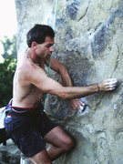 Rock Climbing Photo: Bod harness on the Prow at Stoney point.