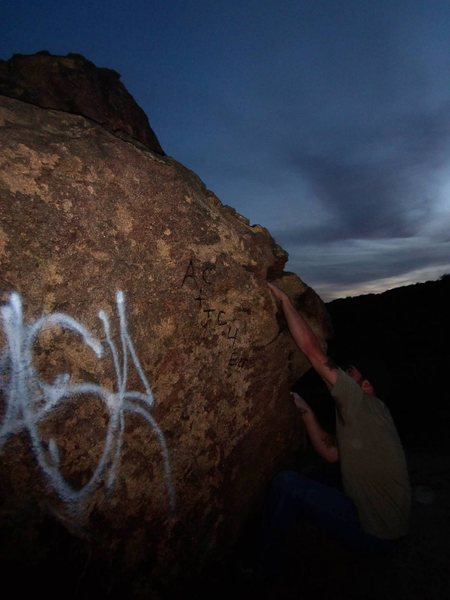 Rock Climbing Photo: Sit start after sunset.