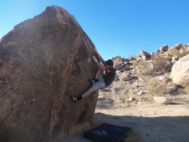 Rock Climbing Photo: Start low and lie back features or reach far.