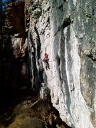 Rock Climbing Photo: Ben reaching a good rest.