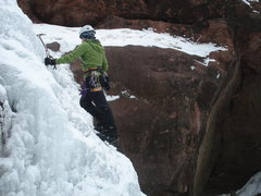 Rock Climbing Photo: Soloing upper tiers of Hayes falls