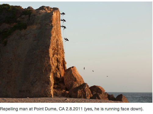 Rock Climbing Photo: No... (But I met this guy there. He rollerblades t...