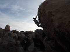 Rock Climbing Photo: Right about to hit the end down climb