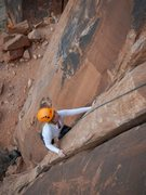 Rock Climbing Photo: Tara having fun on her first climb, Brewed Awakeni...