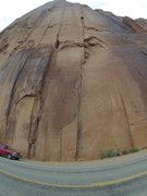 Rock Climbing Photo: Another road side is above red truck, Astrolad is ...