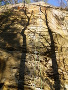 Rock Climbing Photo: King Me, this line follows the path in between the...