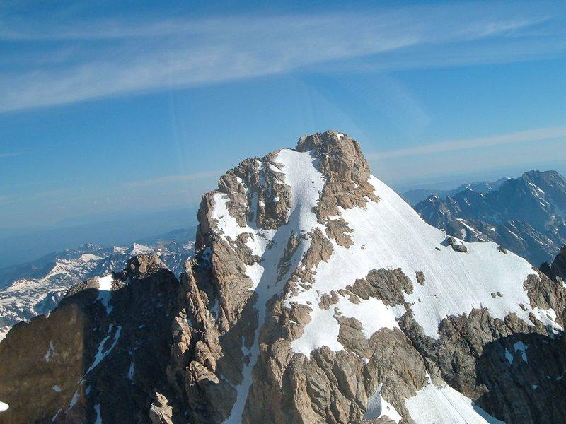Rock Climbing Photo: Summit structure, Grand Teton