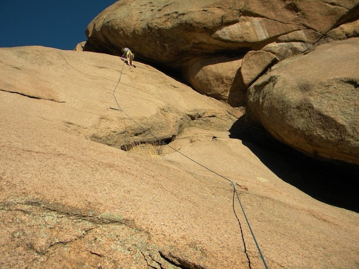 Moving up the Unknown 5.10d On the far left side of Little H.D. <br> <br>