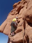 Rock Climbing Photo: Crusher, starting up pitch 2