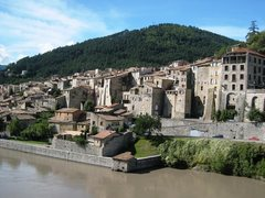Rock Climbing Photo: The tightly packed town of Sisteron