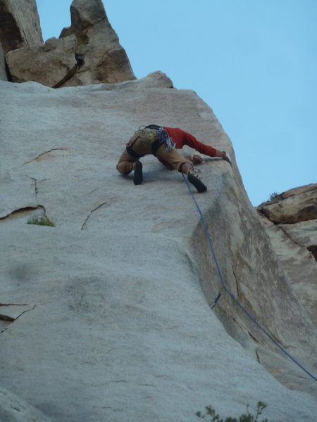 Mike Holley pulling one of the many cruxes on the Route!!