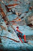 Rock Climbing Photo: Joe Ebert starting the chimney pitch on whodunnit,...