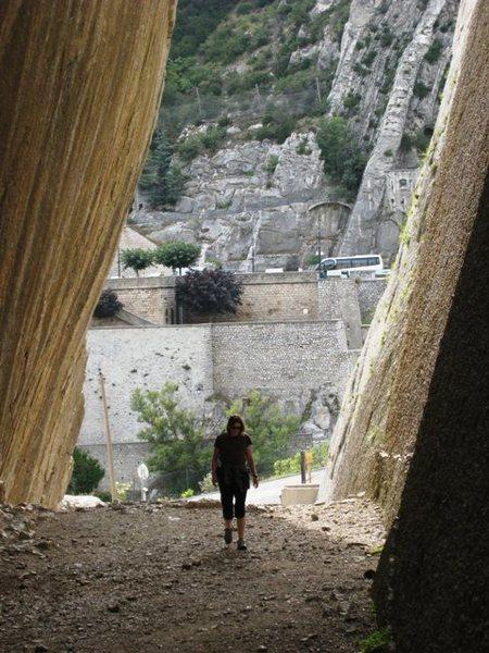 Rock Climbing Photo: Looking out the slot of La Faille at Le Rocher de ...