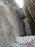 Rock Climbing Photo: Polish climbers enjoying the thin slab climbing at...